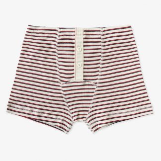 Hemen Biarritz Boxer Albar - Stripe Natural / Red Mar - 1