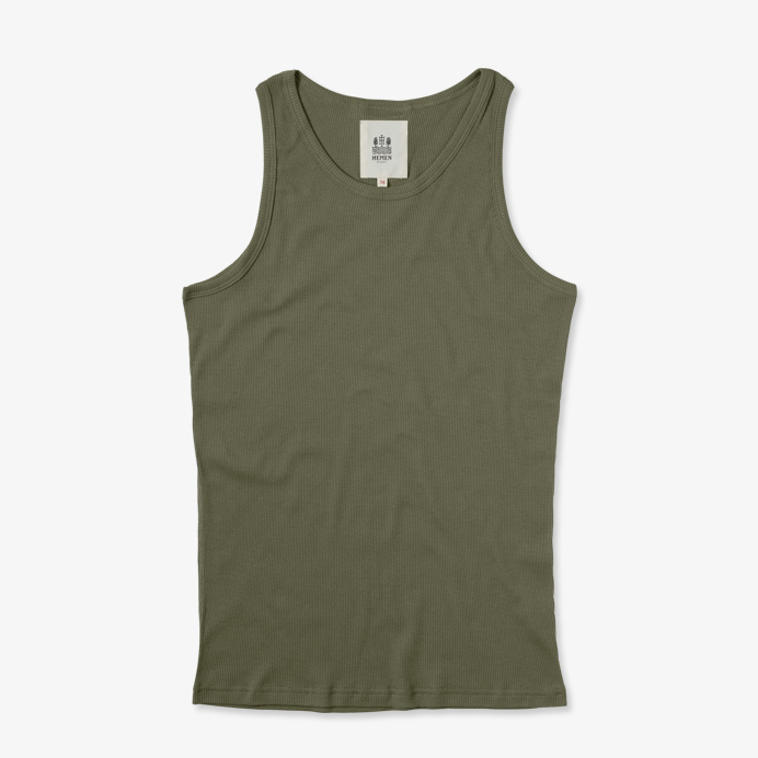 Hemen Biarritz Tank Top Gari - Green Clay - 1