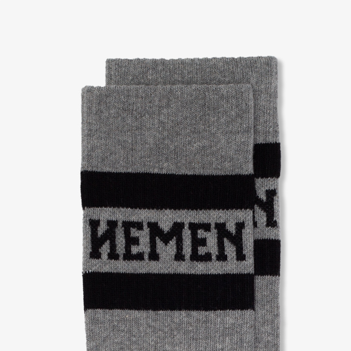 Hemen Biarritz Socks HMN02 - Heather Grey - 2