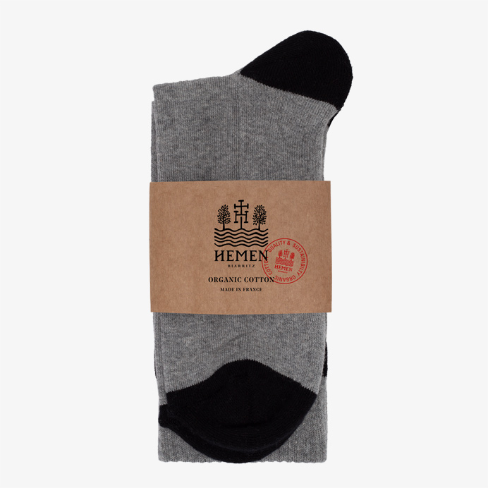Hemen Biarritz Socks HMN02 - Heather Grey - 4